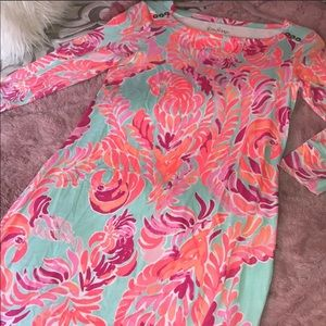 Lilly Pulitzer 3/4 sleeve dress in poolside blue
